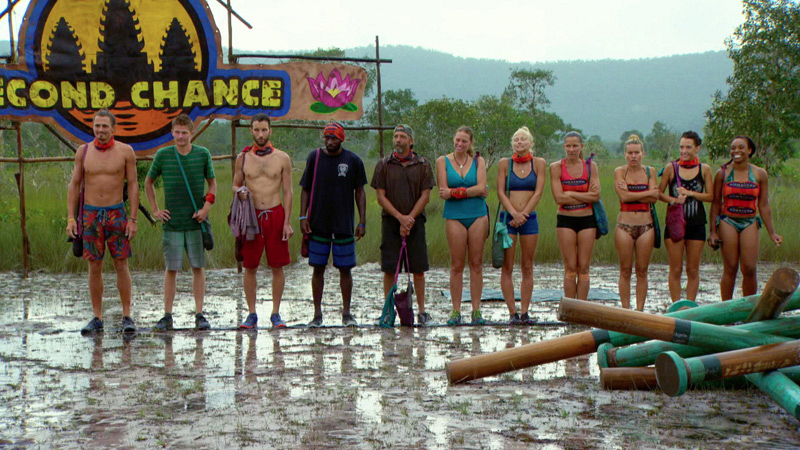 The group is split into two teams before competing for Reward.
