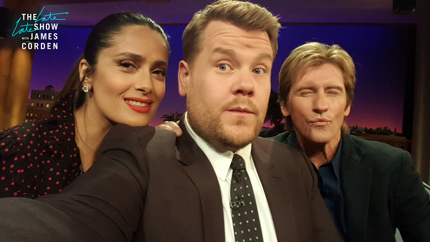 Salma Hayek Pinault and Denis Leary
