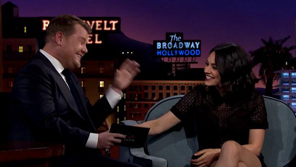 James Corden is mistaken for Mila Kunis