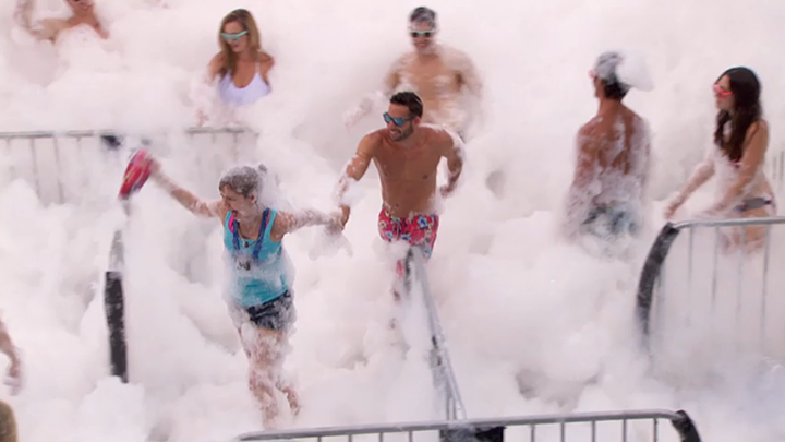 "Meg fights the foam (""Gronk's Amazing Foam Party,"" BoB)"