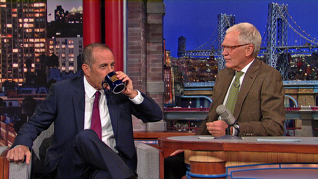 7. This comedian getting coffee on Letterman