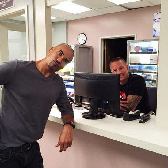 Criminal Minds Instagram: Yes, Shemar is about to say what's up to you! #yourbabyboy @shemarfmoore