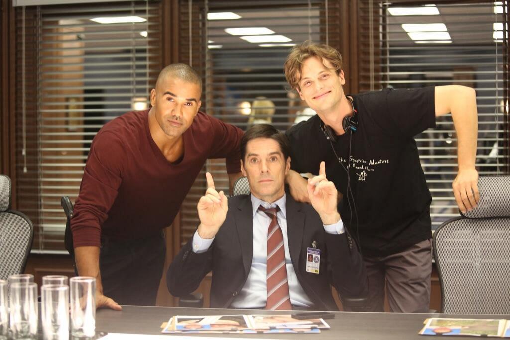 30. Shemar Moore, Thomas Gibson and Matthew Gray Gubler - Criminal Minds
