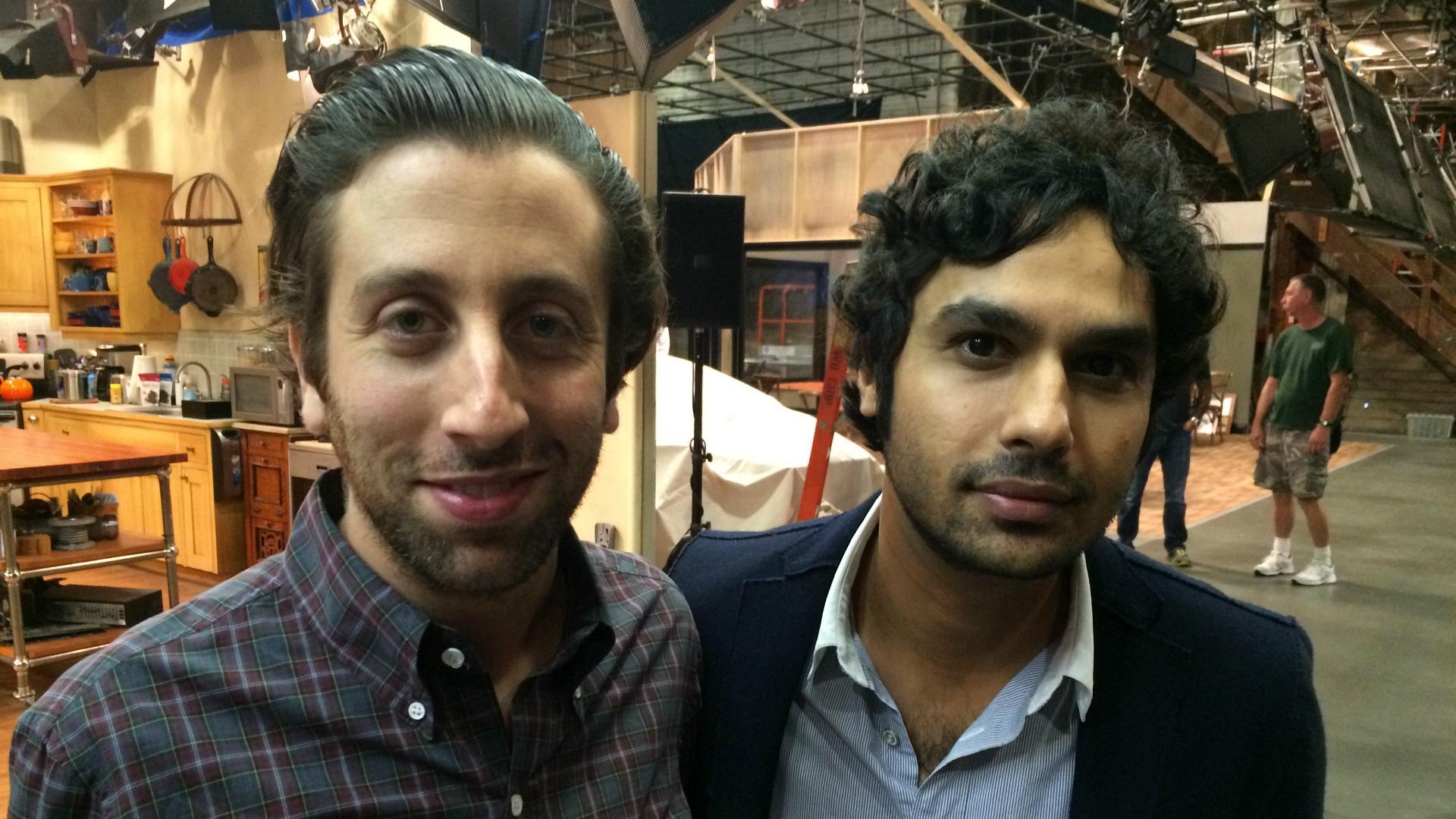 Simon Helberg and Kunal Nayyar got up-close and personal.