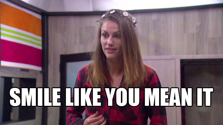 "Becky tells Shelli and Clay to ""be happy."""