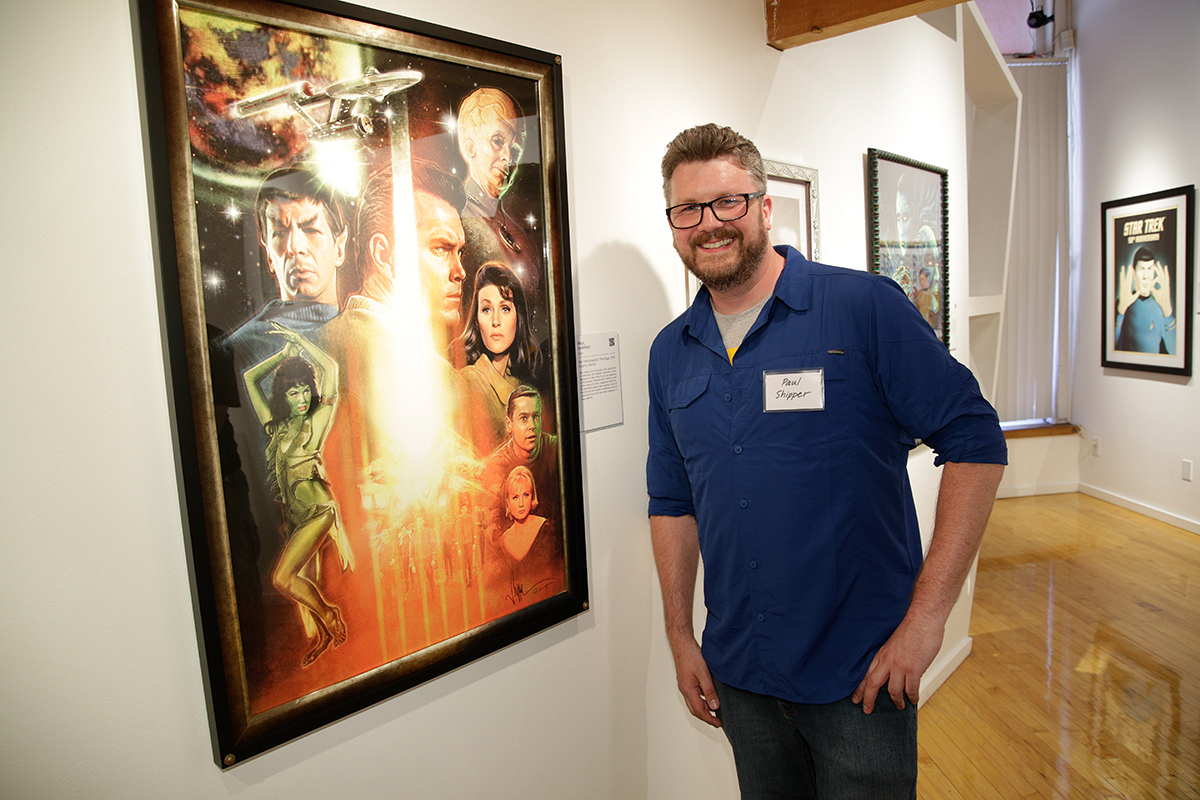 Paul Shipper with The Original Series piece