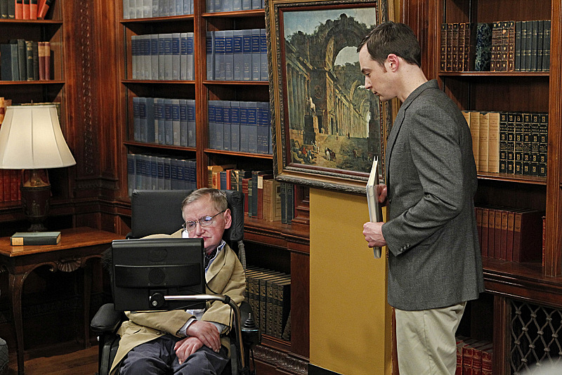 Sheldon Meets Stephen Hawking