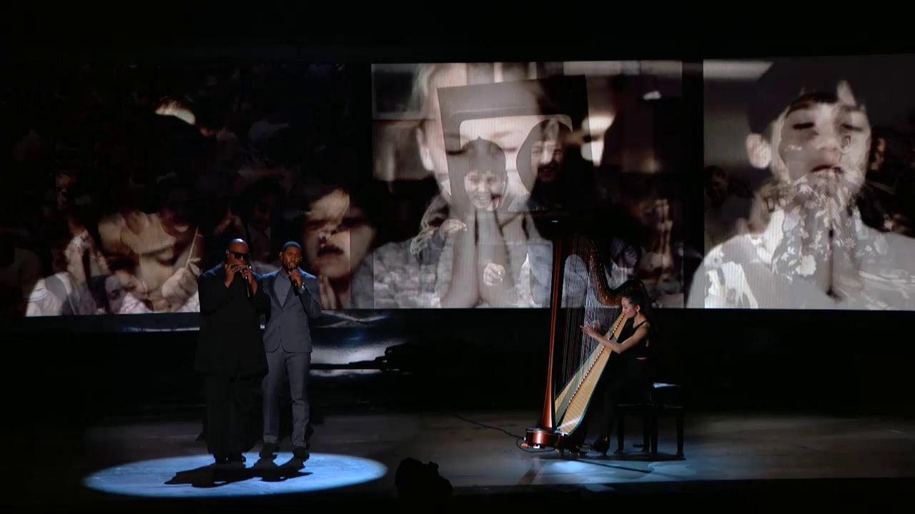 Usher and Stevie Wonder