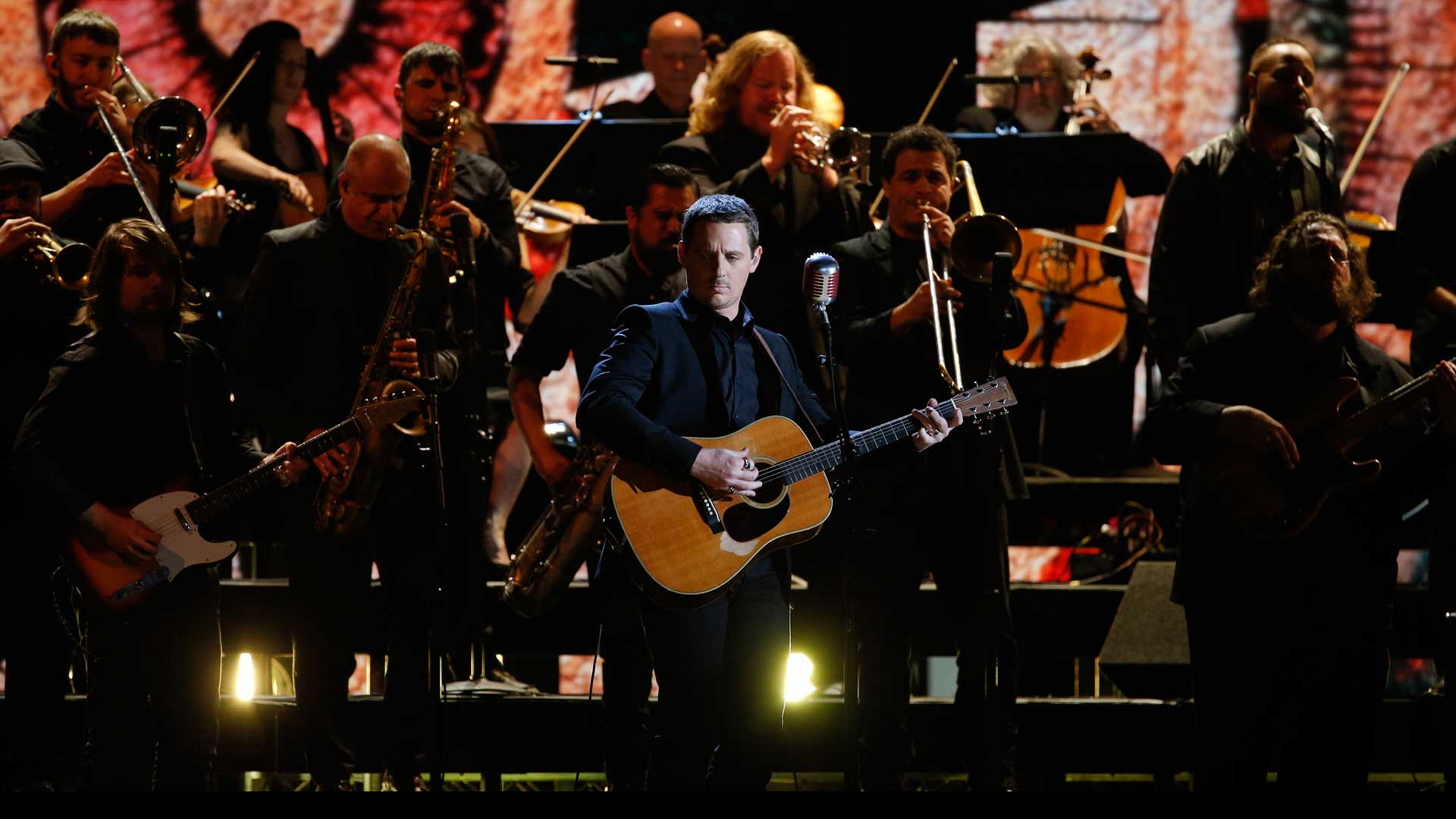 "Sturgill Simpson and The Dap-Kings perform ""All Around You"" at the 2017 GRAMMY Awards."