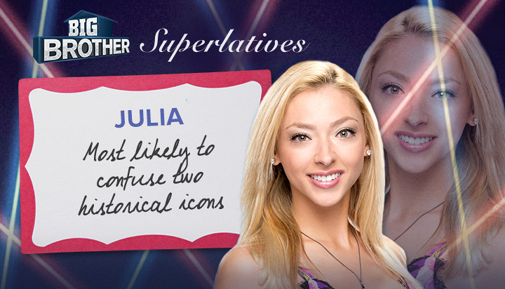Julia - Most likely to confuse two historical icons