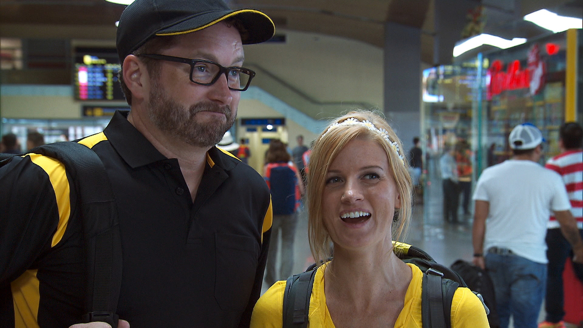 Burnie and Ashley make their way from Cartagena, Colombia, to Geneva, Switzerland.