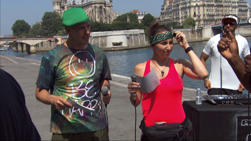 #TheGreenTeam busts out a rap or trois in Paris