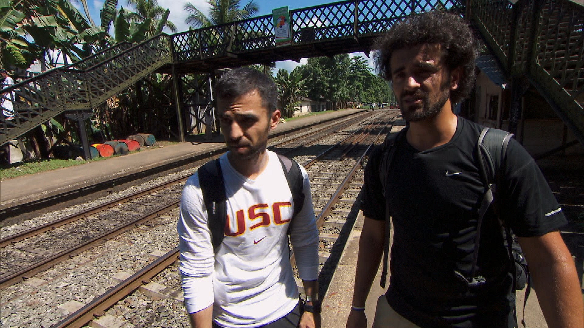 Waiting for a train in Season 24 Episode 6
