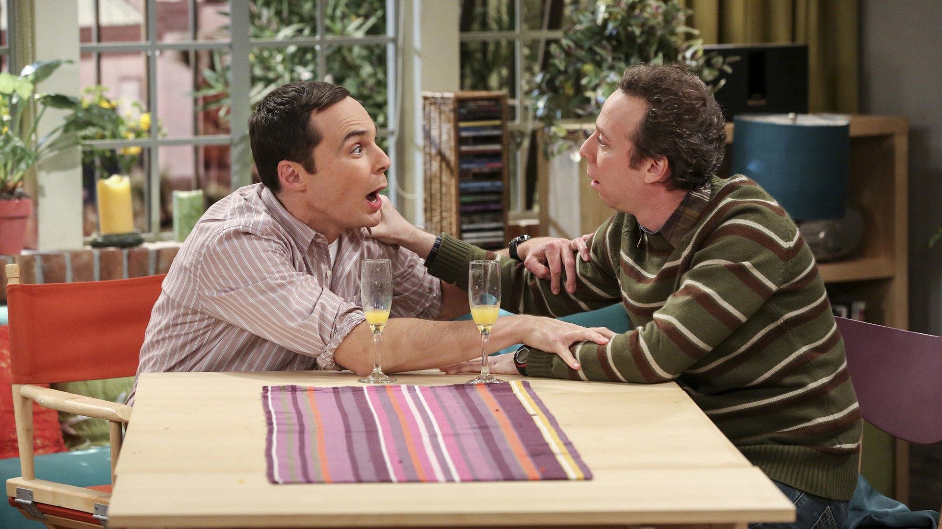 Sheldon and Stuart may've had one too many mimosas.