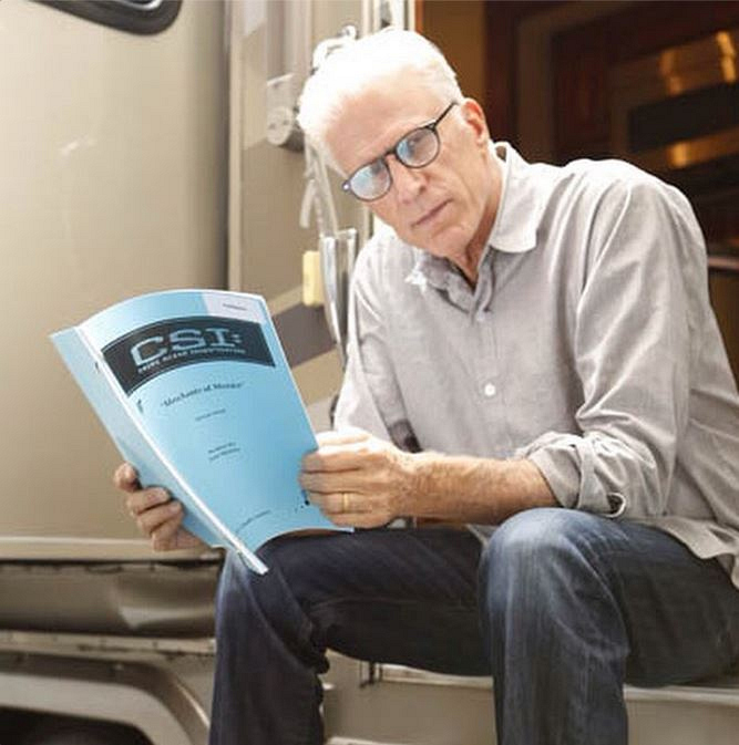 CSI Instagram: I'm the first to admit it's cool seeing Ted Danson outside his trailor reading the latest #CSI script. #thebest #CBSInstagramTakeover