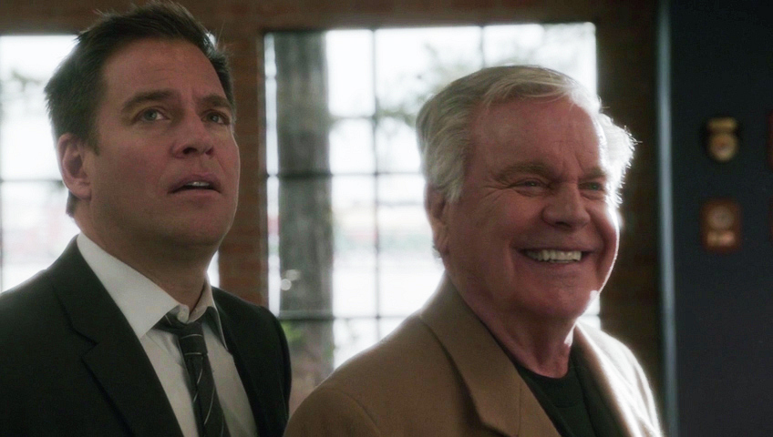 "They both react when someone calls out ""DiNozzo!"""