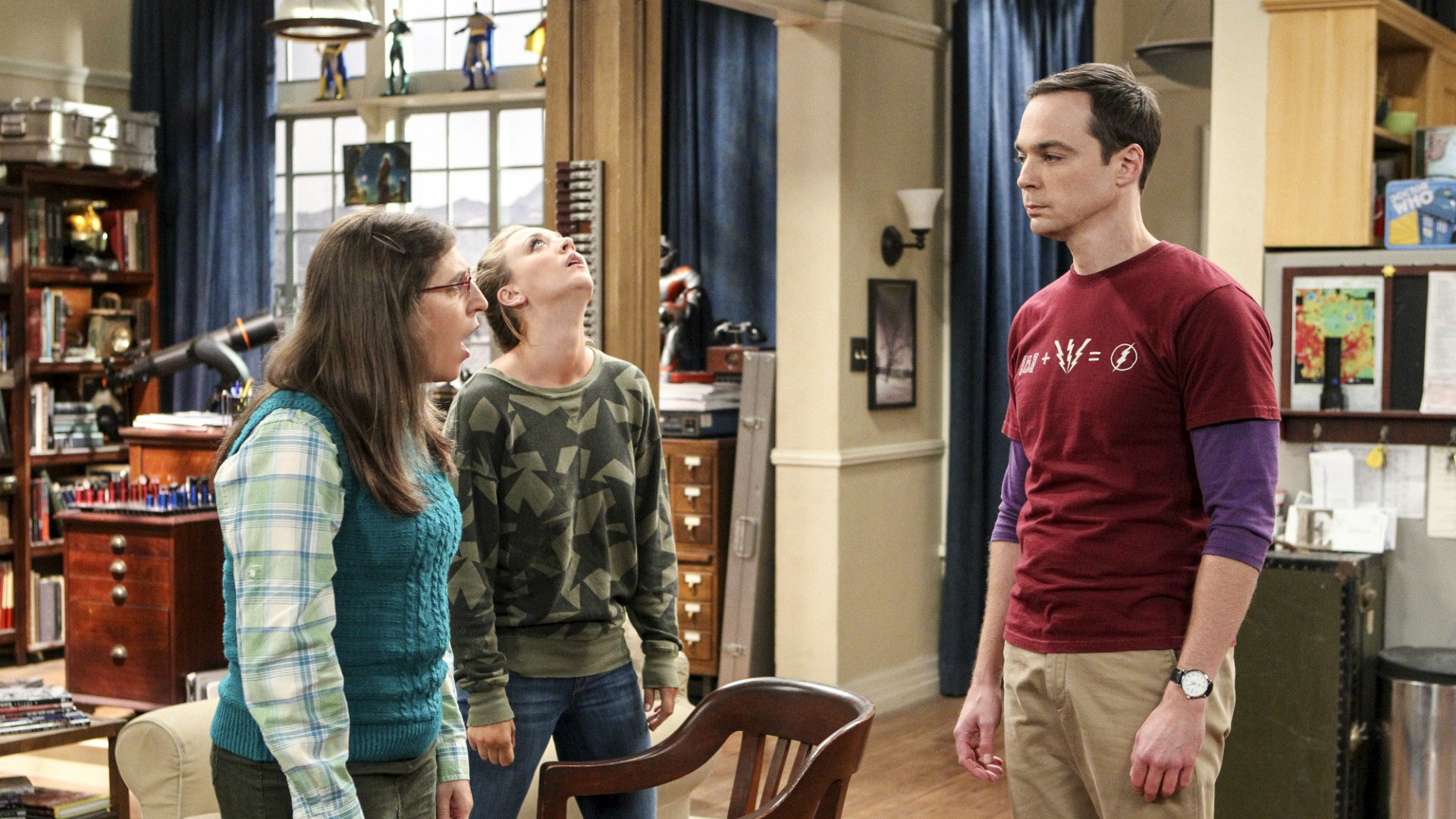 Sheldon and Amy continue to bicker, which exhausts Penny.