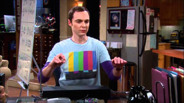 Sheldon playing the theremin