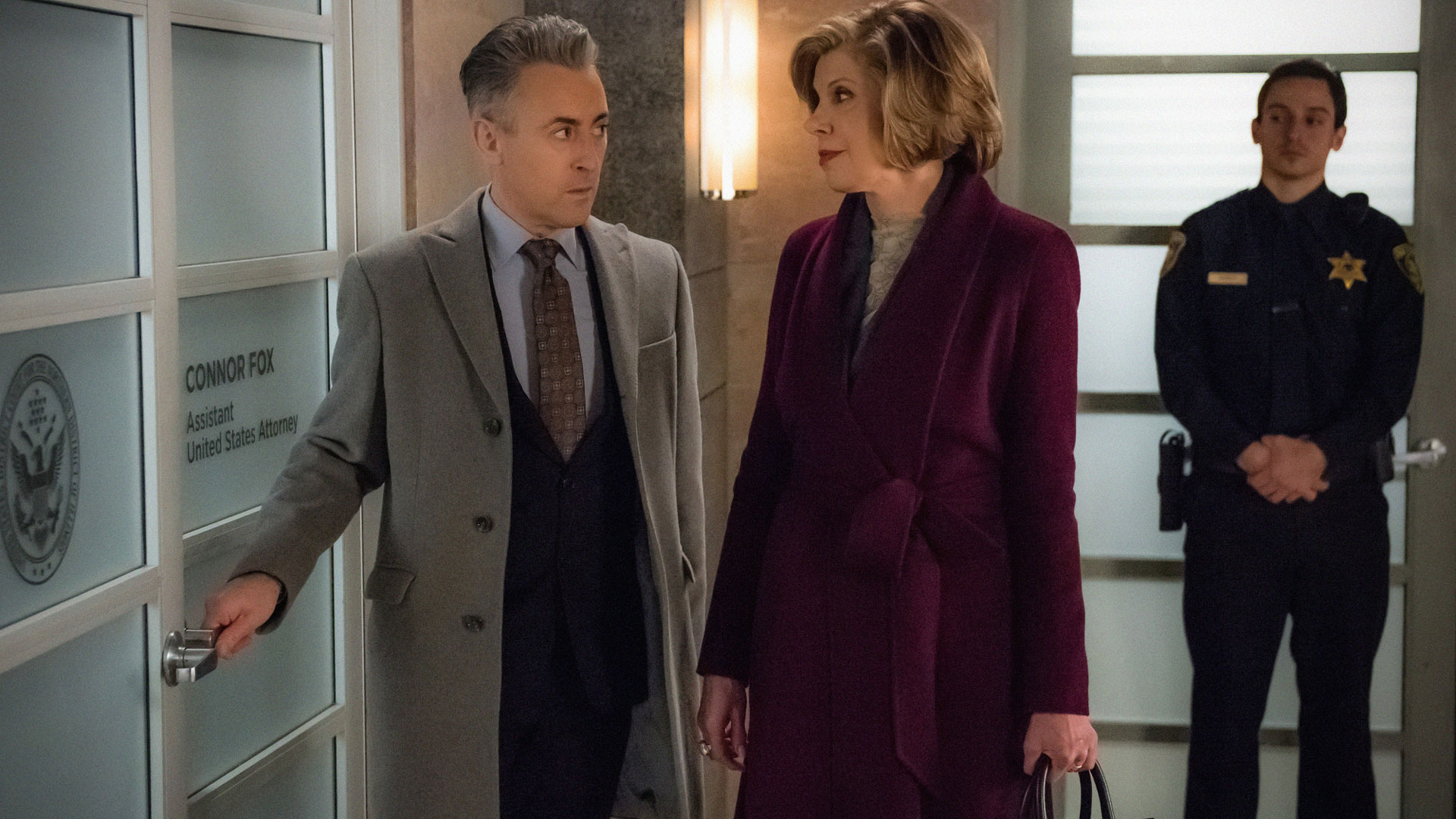 Alan Cumming as Eli Gold and Christine Baranski as Diane Lockhart