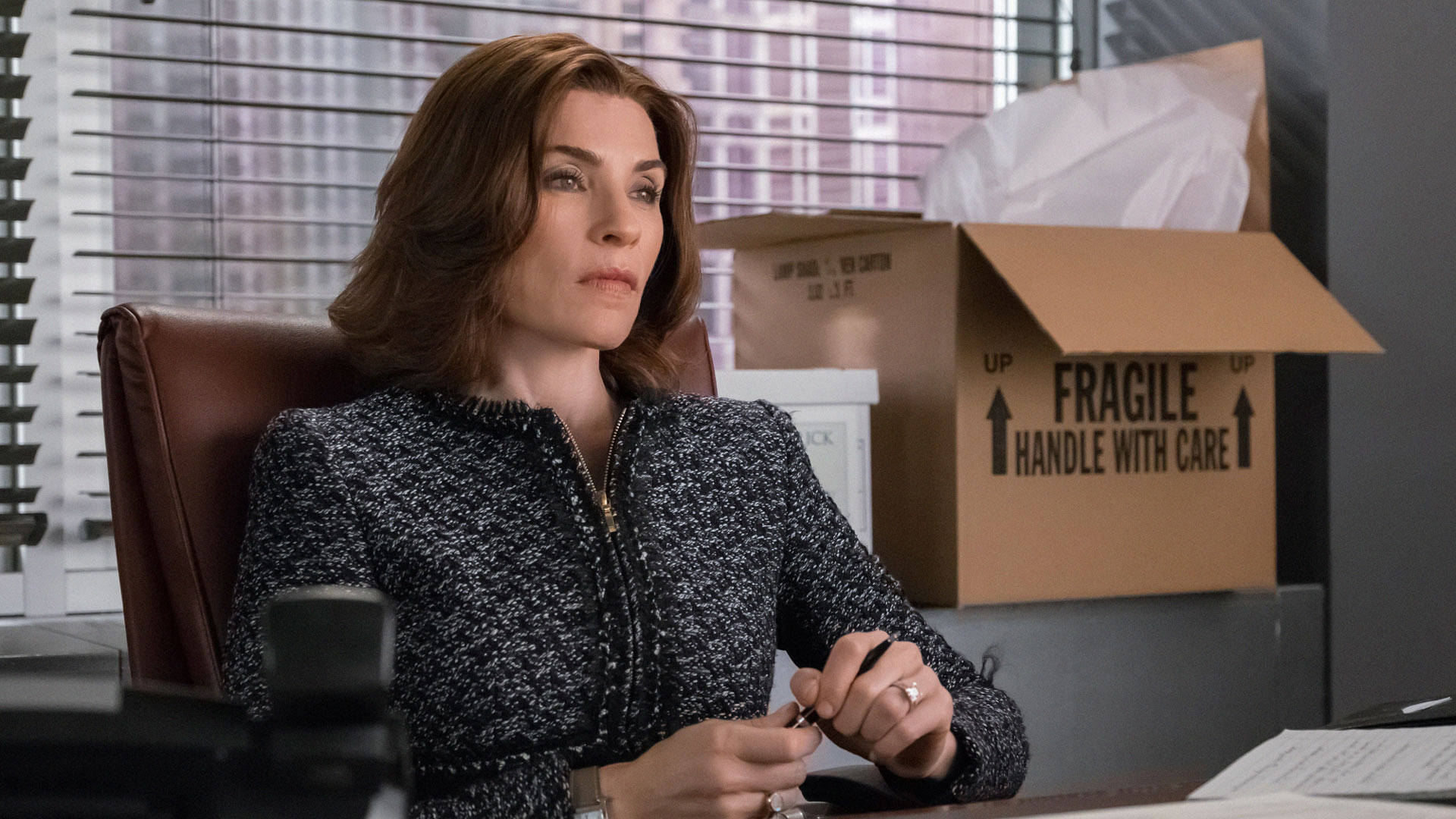 Alicia Florrick weighs her options.