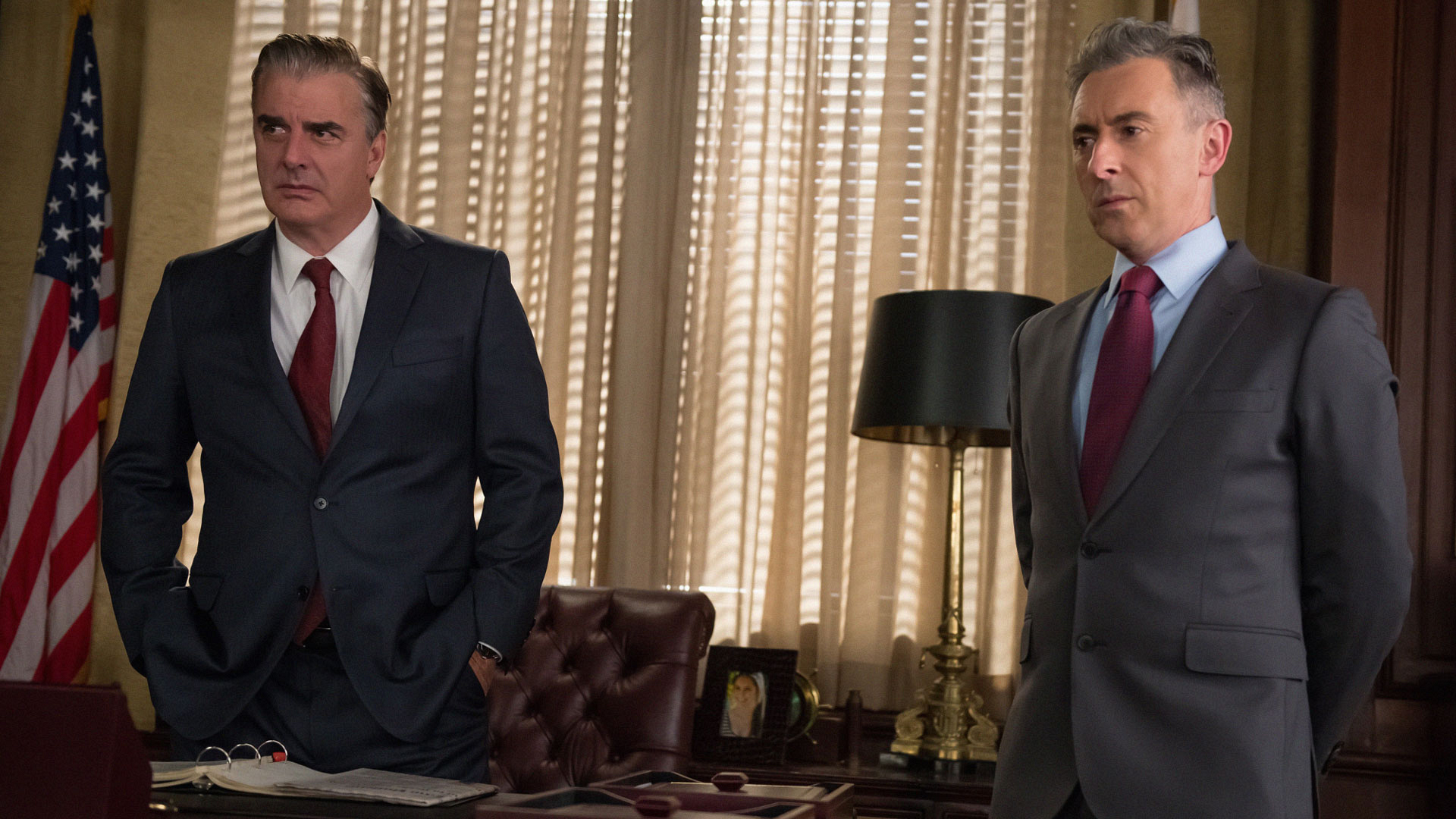 Chris Noth as Peter Florrick and Alan Cumming as Eli Gold