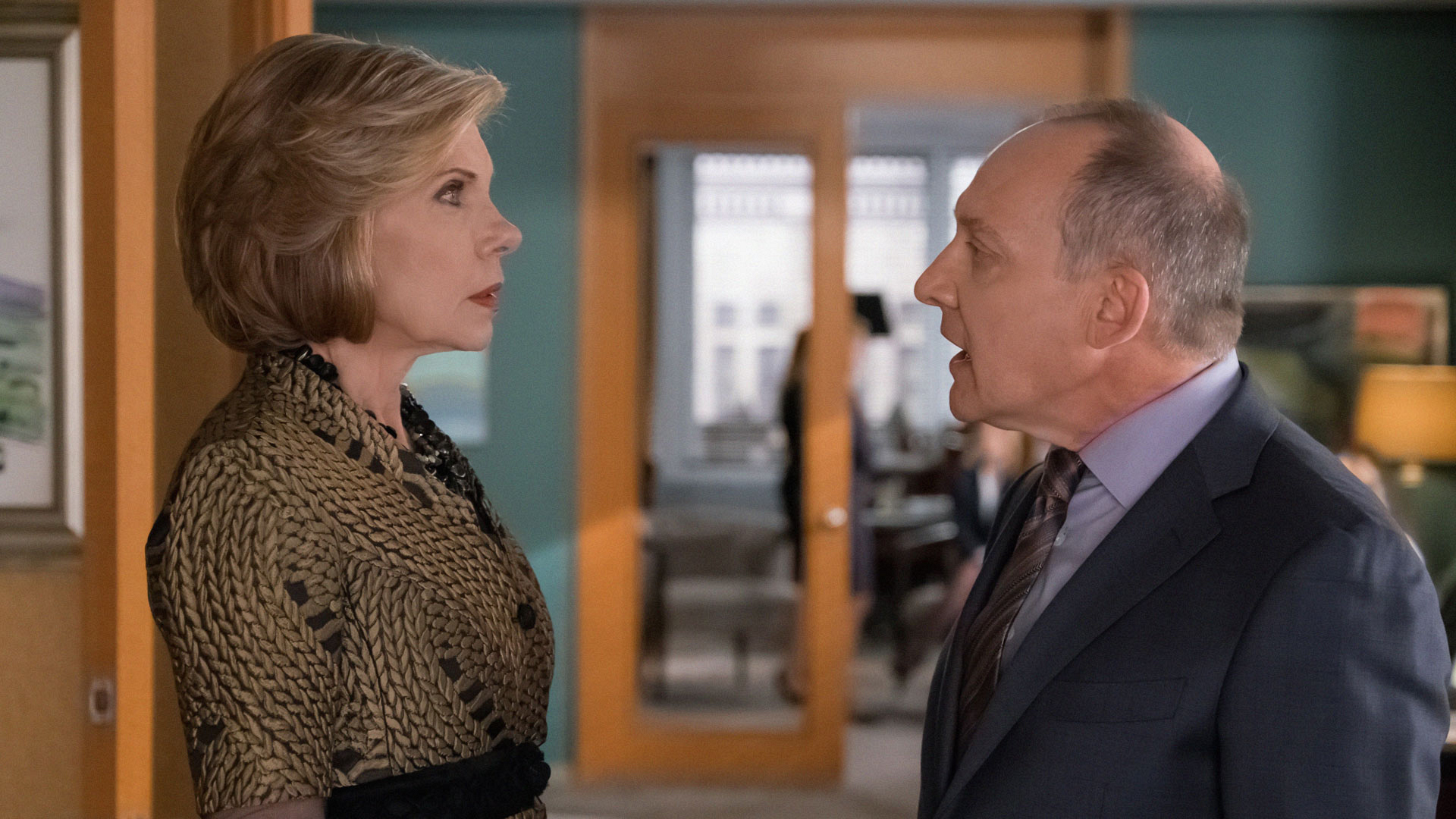 Diane and David get in an argument at the firm.