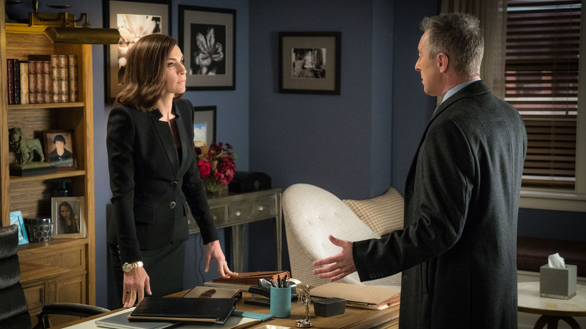Eli Gold finally told Alicia Florrick about Will's second voicemail on The Good Wife.