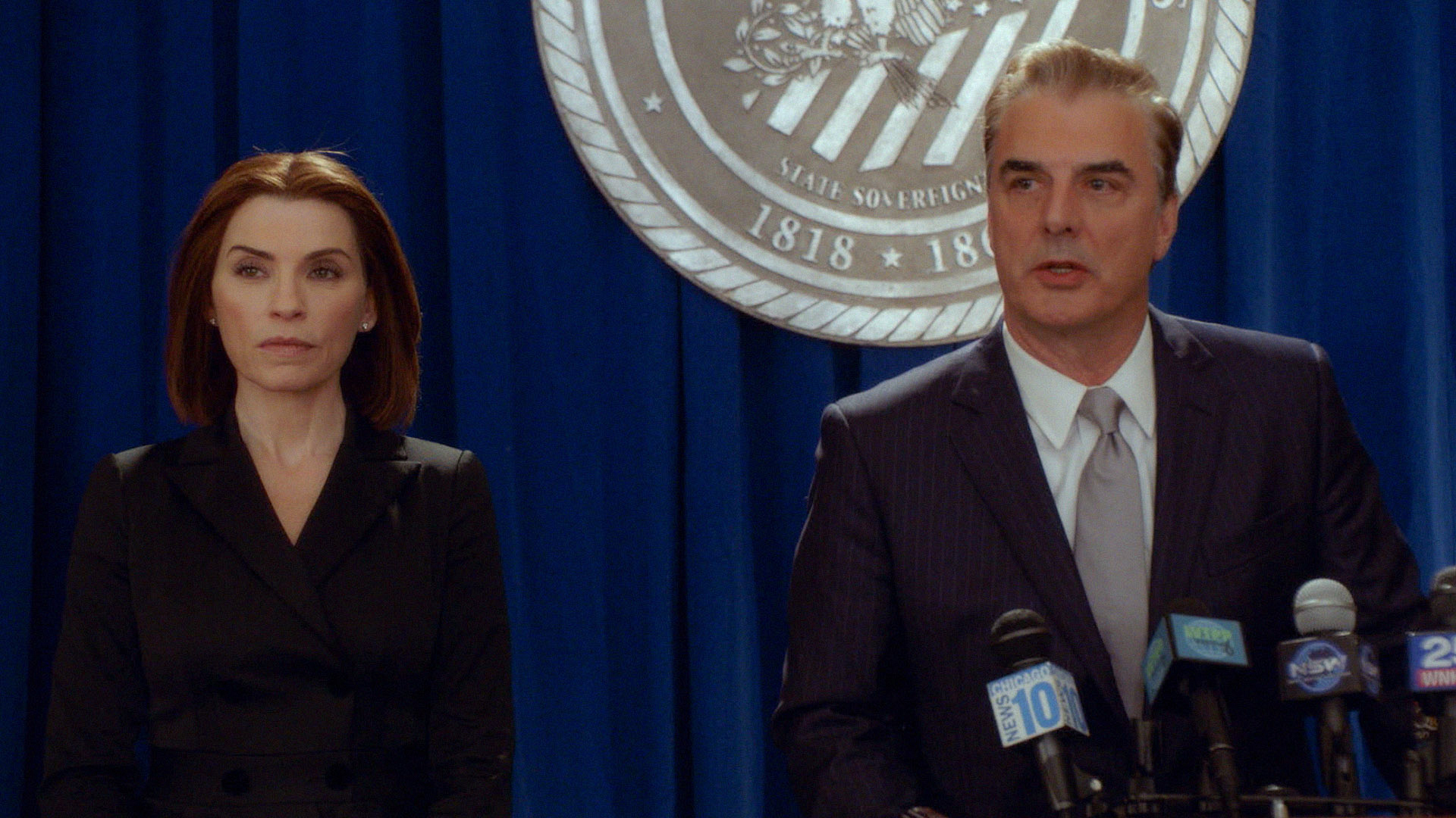 Alicia Florrick stood by Peter's side one final time on The Good Wife.