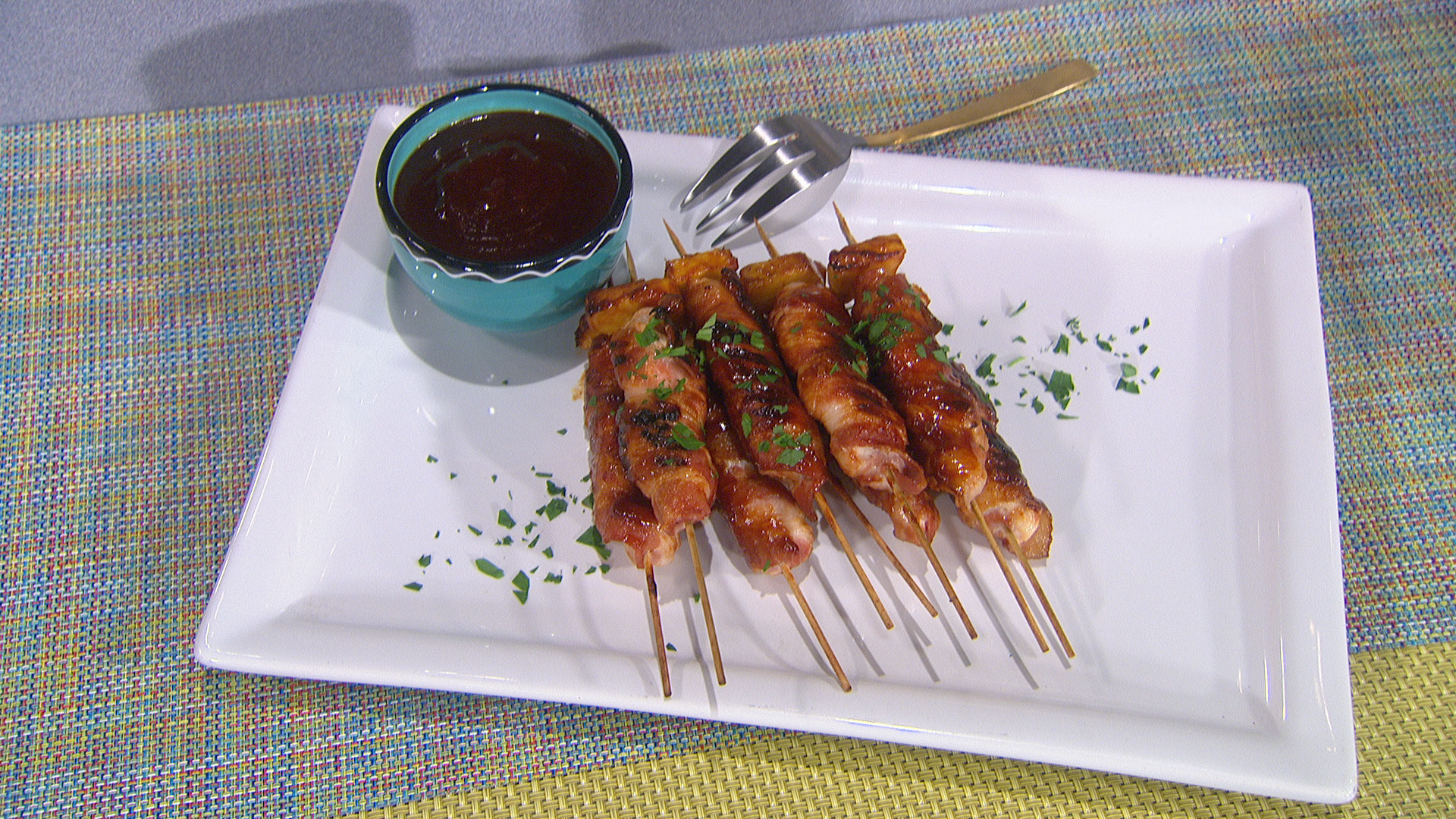 Marisa Churchill's BBQ Chicken Bacon Skewers
