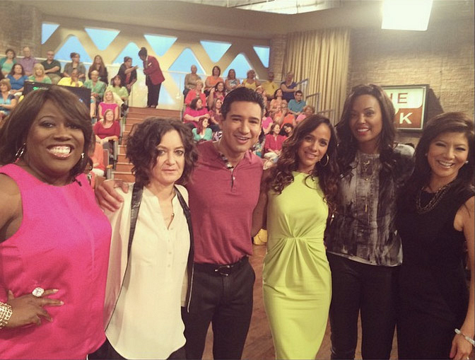 3. The lovely Dania Ramirez guest co-hosting on the day of Mario Lopez's appearance.