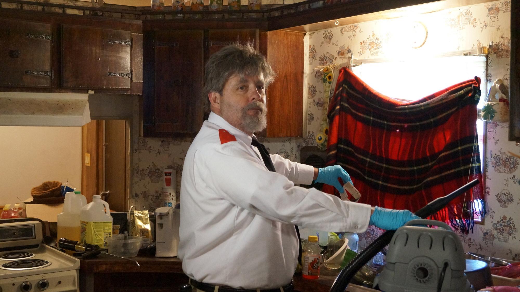 "John working hard in ""Orkin"" Episode 15 Season 4"