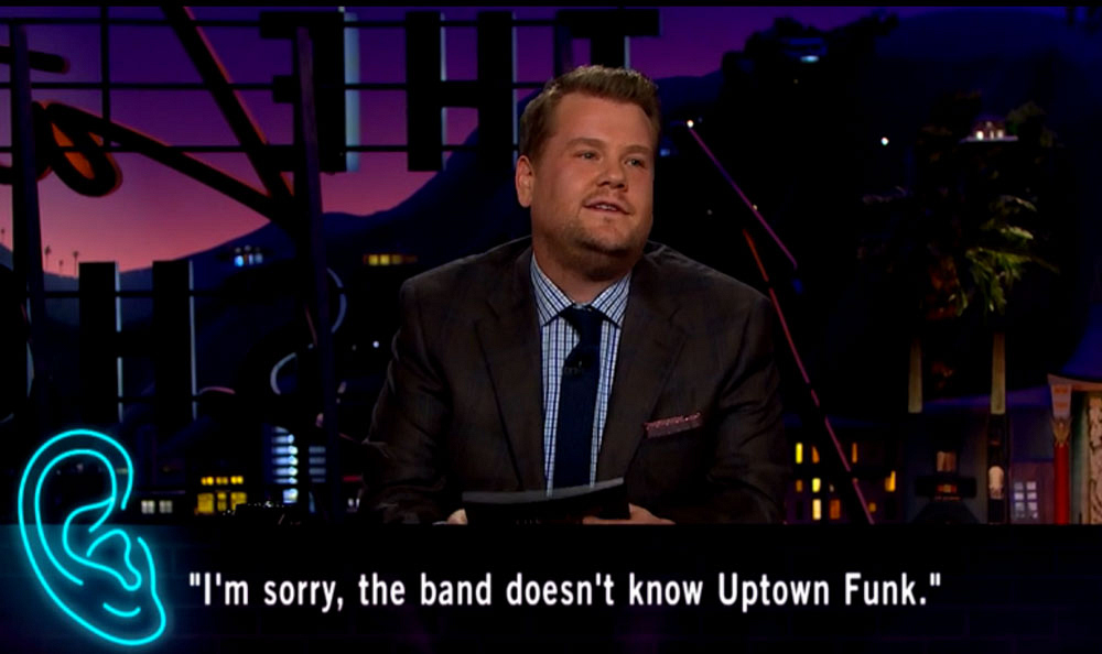 I'm sorry, the band doesn't know Uptown Funk.