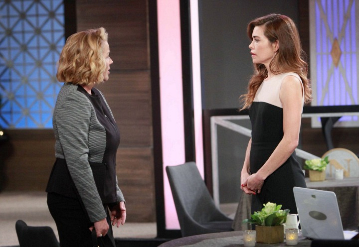 Victoria and Nikki discuss the upcoming trial.