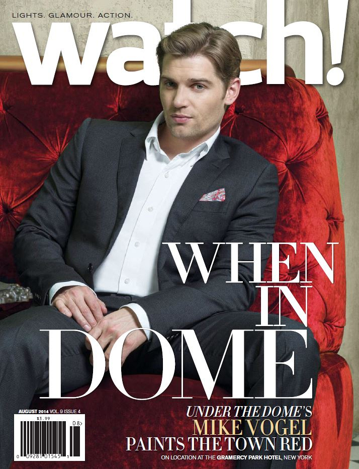 Mike Vogel on the Cover of Watch! Magazine August 2014