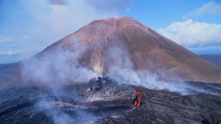 A woman falls into a volcano, never to be seen again.