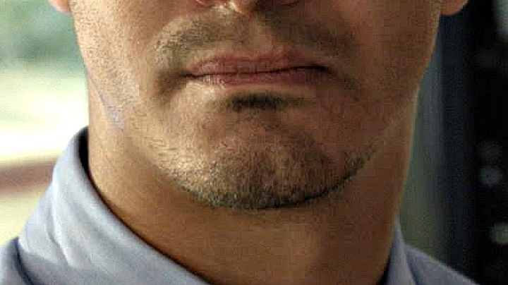 It doesn't take a genius to guess who this stubble belongs to.