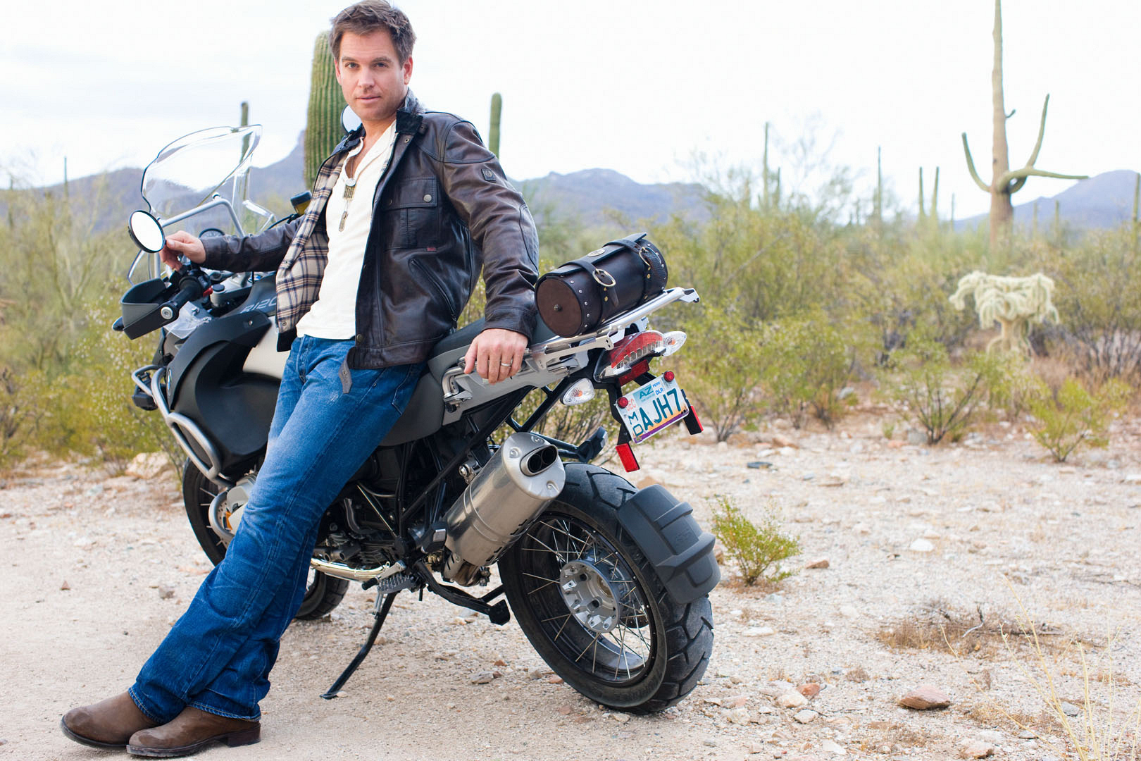 Michael Weatherly as king of the road