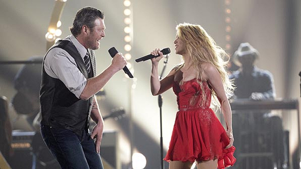 When Blake Shelton and Shakira set the stage on fire.