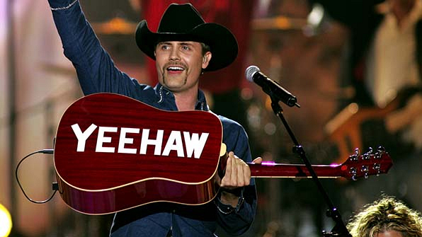 When John Rich told the audience to keep calm and yeehaw!