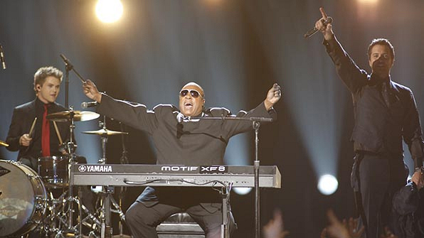When Stevie Wonder made everyone's jaws drop.