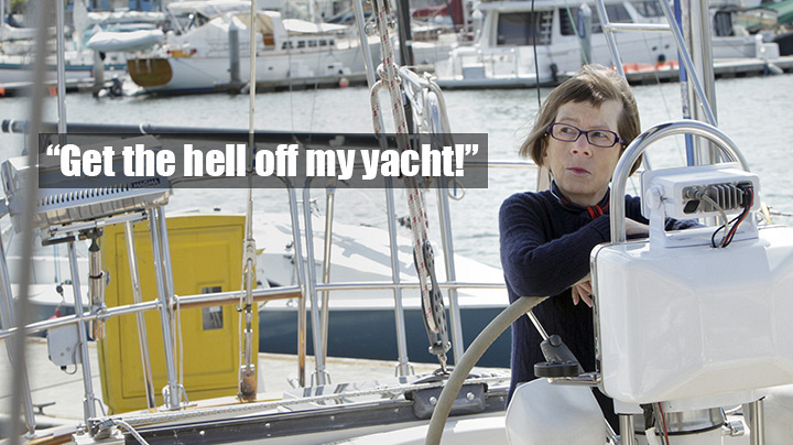 "If you went on her yacht, you would have to call her ""Captain Hetty."""