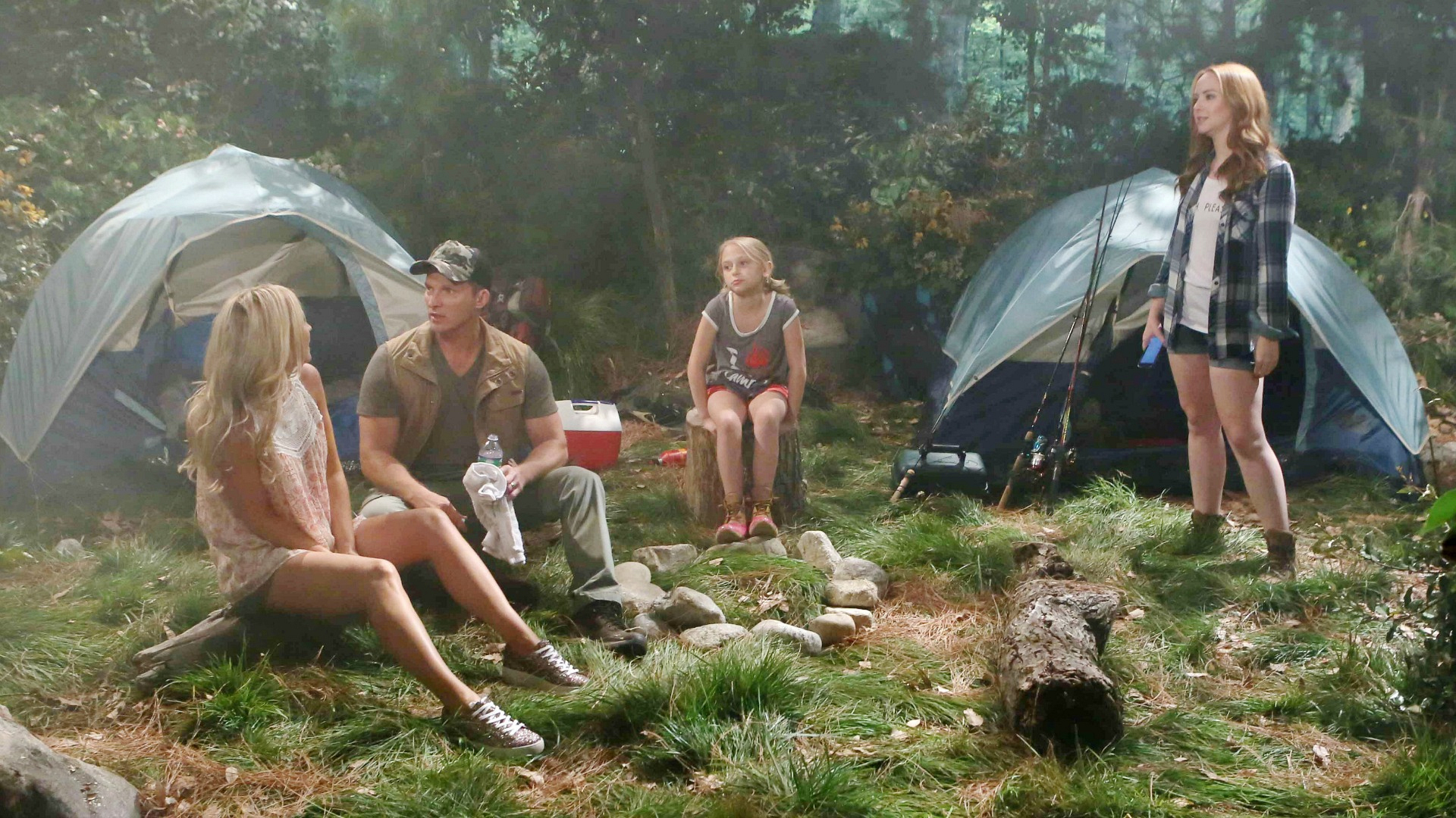 Dylan and Sharon plan a family camping trip.