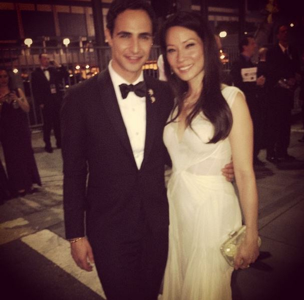 Lucy Liu with Fashion Designer, Zac Posen.