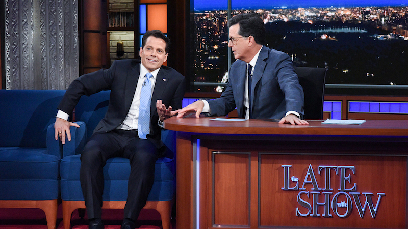Anthony Scaramucci Tells Stephen Colbert About Life Inside Trump's
