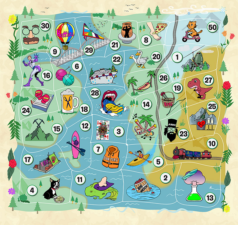 2 Fun Points - Big Meech's Apple Bobbing and Throwing 3 Fun Points -  Vanessa's Underwater Poker Lessons 4 Fun Points - Glenn's Dog Grooming and  Gold Mining