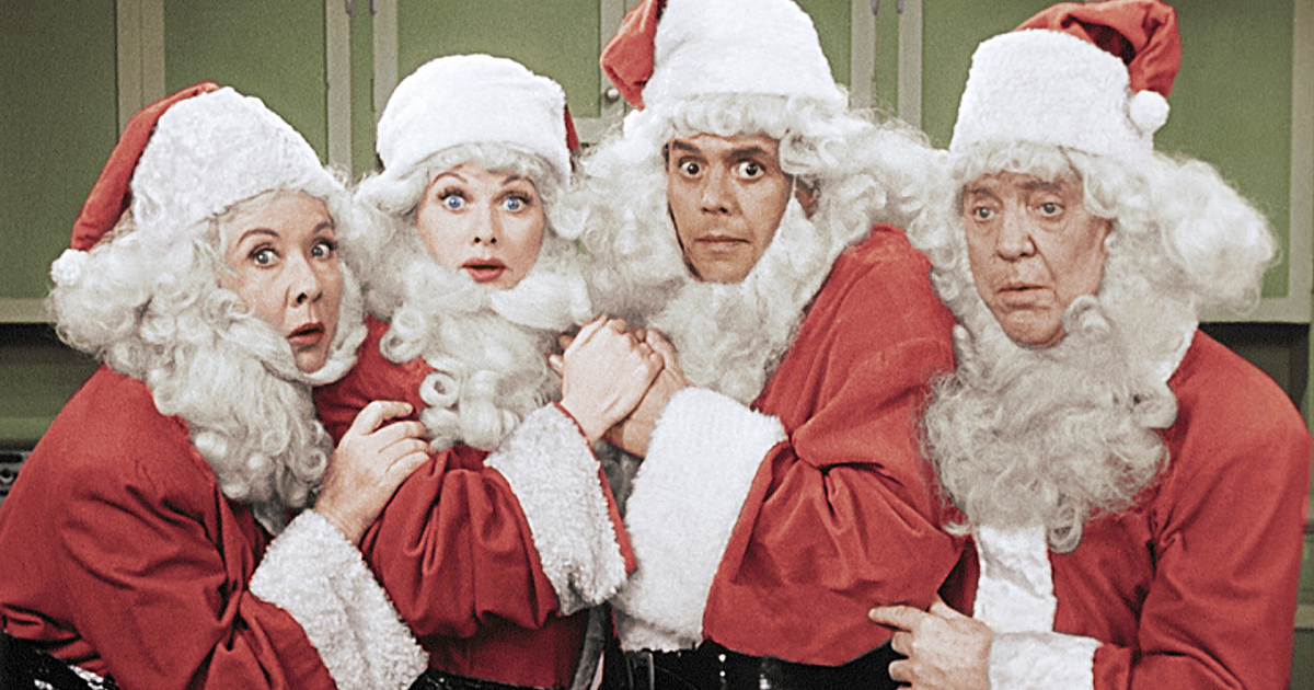 laugh in the holidays with the i love lucy christmas special on cbs cbscom - I Love Lucy Christmas Special