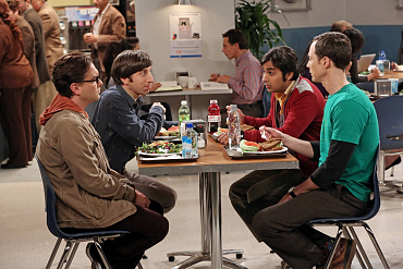 The Guys Try To Focus in The Big Bang Theory Season 8 Episode 5