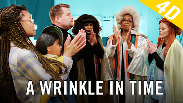 James Recreates A Wrinkle in Time With Oprah, Reese, And Mindy