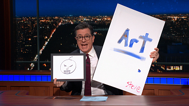 Bid On Paintings By Stephen Colbert To Help The American Art Therapy Association