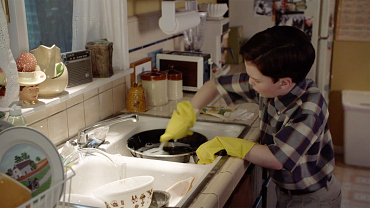 Young Sheldon Angry-Cleans After Being Denied A Trip Out With Friends
